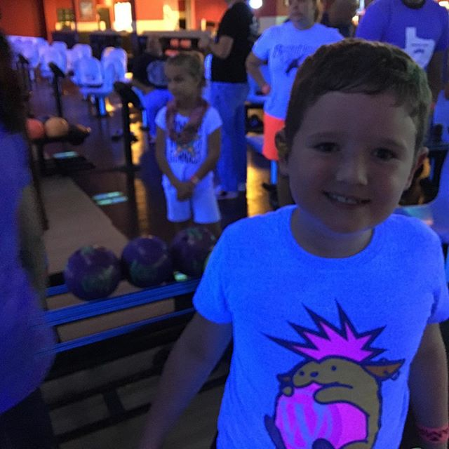 Bowling with the kiddo at the #wcdfw after party.