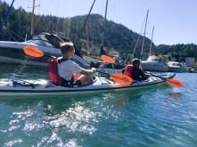 Dan and Miguel kayaking