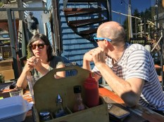 Enej and Candace Bajgoric at Bowen Island Pub