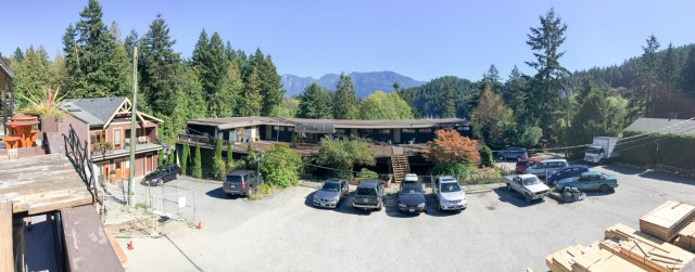 Panoramic from patio at Bowen Island pub
