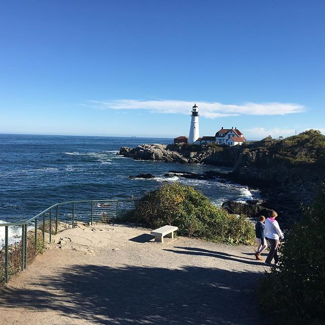 Portland Head Light from the cliff trail.