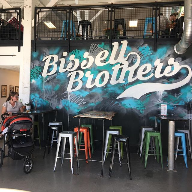 Stopped by @bissellbrothers brewery after lunch. Walked in and was greeted with a very strong brewery smell.