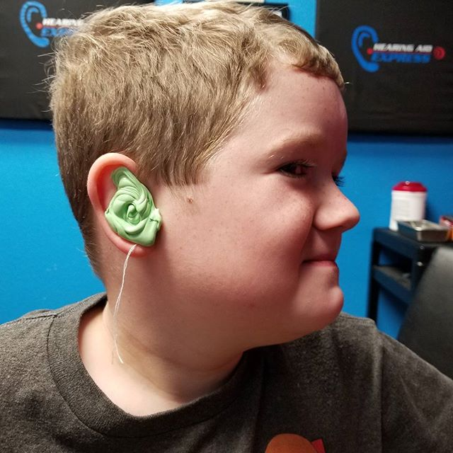 Took Hero to get fitted for new hearing aid molds