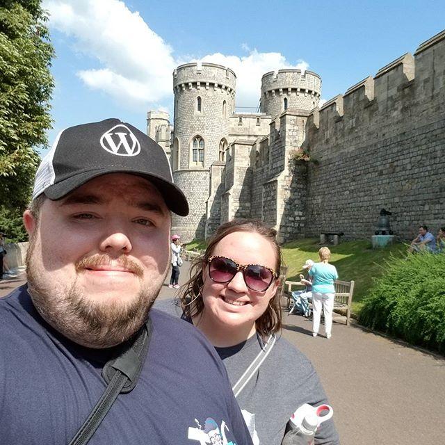 Sara and I at Windsor Castle