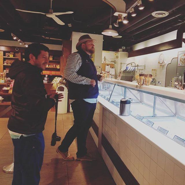 Late night #a8cgm ice cream with Sam and Elio