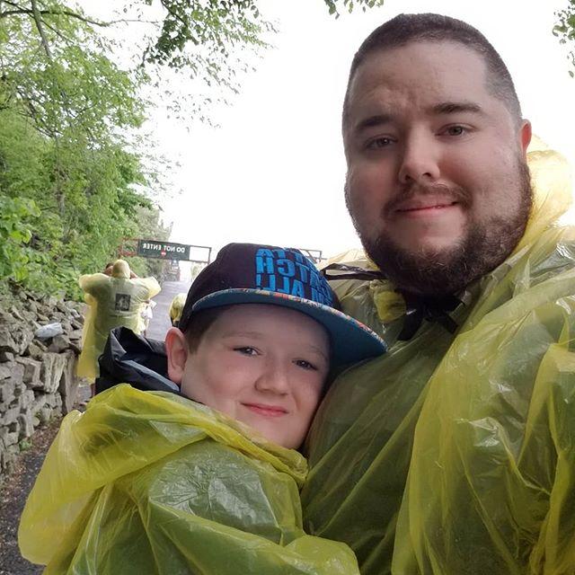 Hero and I at Cave of the Winds at Niagara Falls