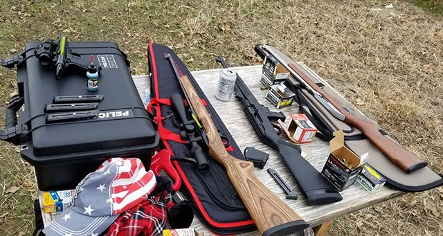 Shot a few different guns today with the family. Some not pictured. 😀