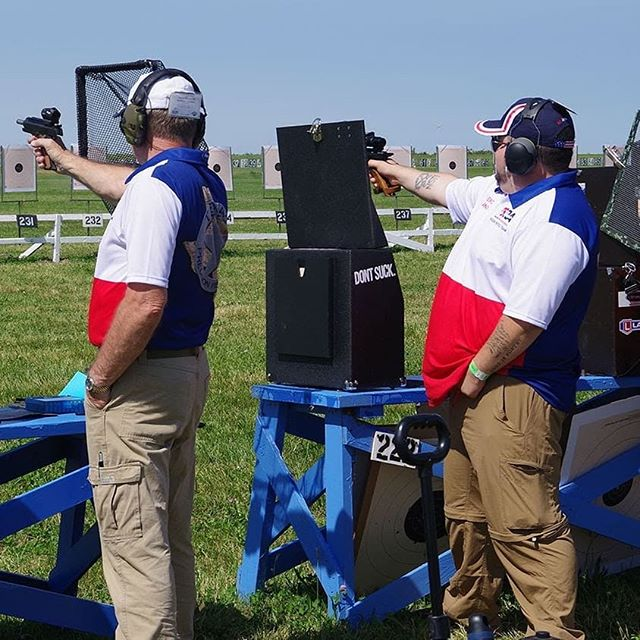 "Picture of myself during the preliminary match at Camp Perry. This picture ended up in the Shooting Sports USA magazine as well, with a comment about the ""Don't Suck"" sticker on my box. 😂 Thanks John Rickards for the photo."