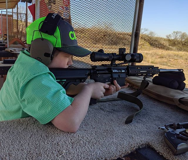 Hero had his chance to shoot the AR today. He loved the first five rounds. Had enough by the 8th round though 😂