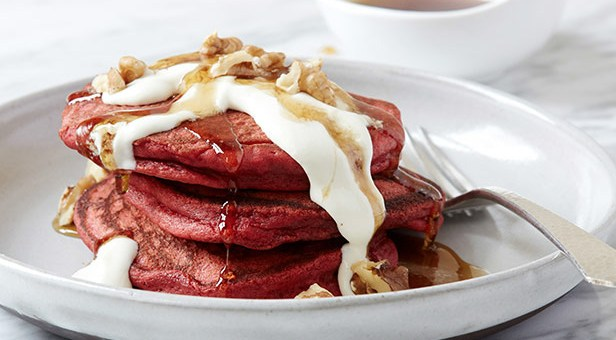 Sweeten Up Your Valentine's Day Breakfast with Red Velvet Pancakes!