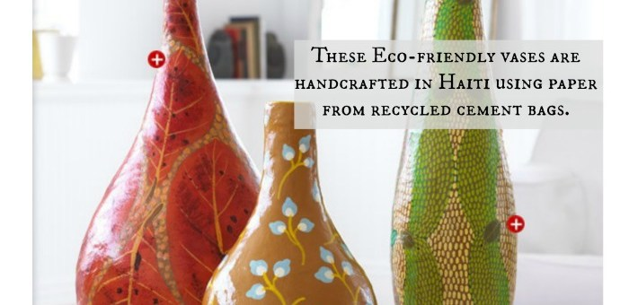 Sustainable Home Decor from the Heart of Haiti #BeInspired #DoGood