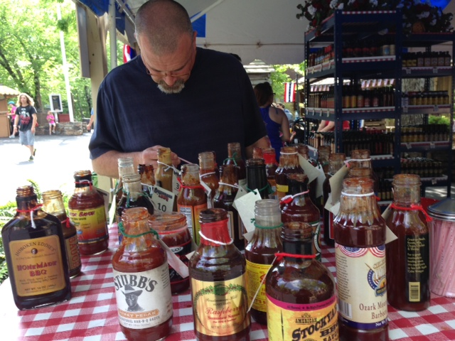 The Hubs Sampling BBQ Sauces