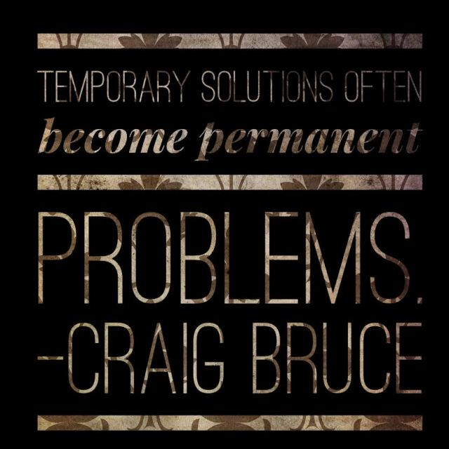temporary solutions