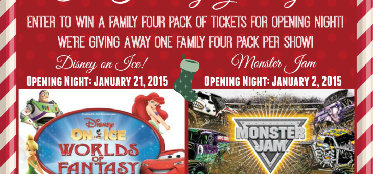 Hey New England! Disney On Ice and Monster Jam are Coming! Show Tickets are a Great Gift! #Giveaway