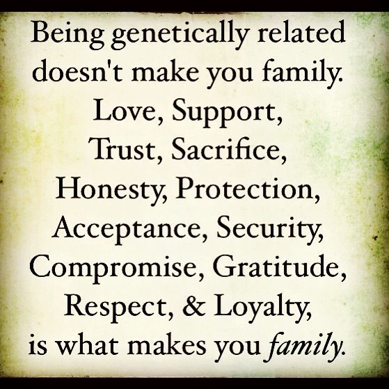 family is not genetic