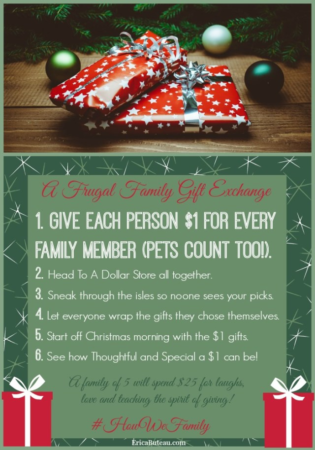 frugal family gift exchange