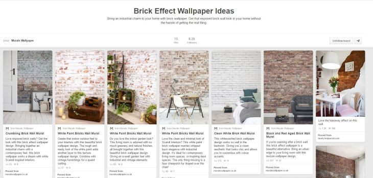 Click the image to see even more brick wallpaper ideas!