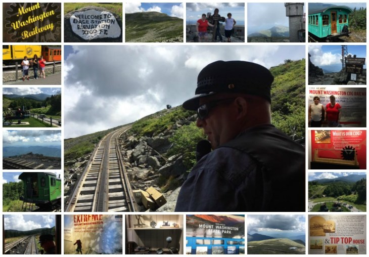 cog railway collage