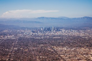 An aerial photograph of Los Angeles.