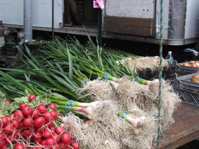 Spring garlic.