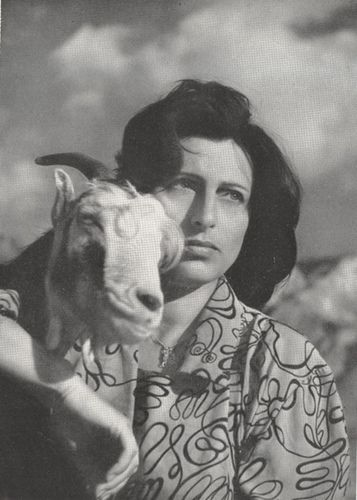 ann with goat