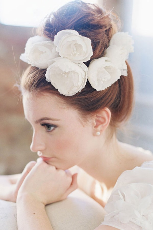 ODE TO LOVE SILK FLOWER HAIR PIN SET