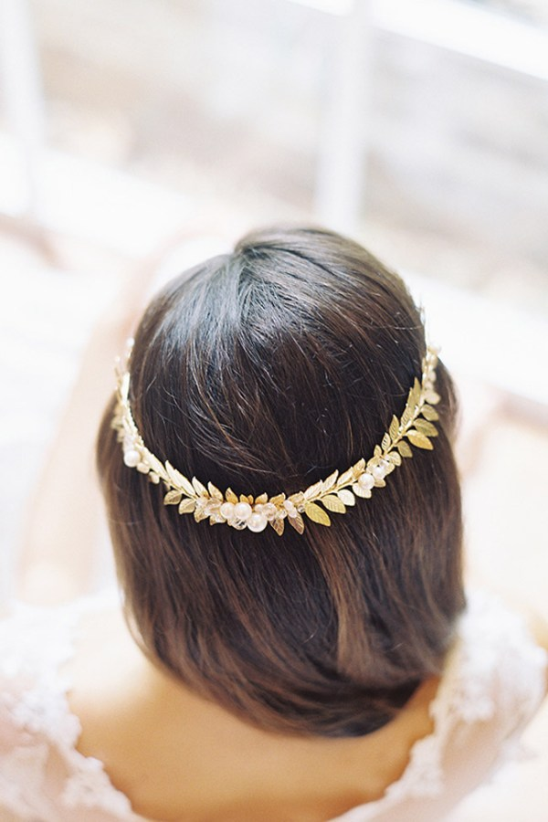 FLAVIA ROMAN LAUREL LEAF CROWN