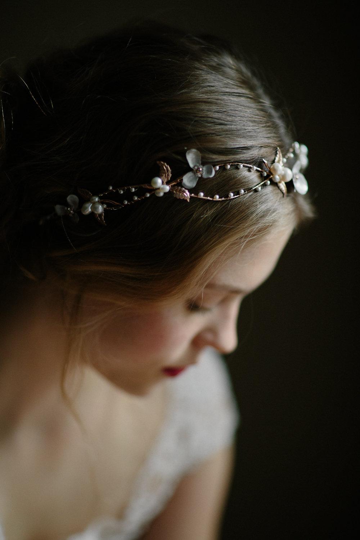 Wedding Crown Bridal Headpiece Rose Gold Boho Flower