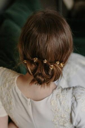 RAMBLING ROSE BRIDAL HAIR PINS