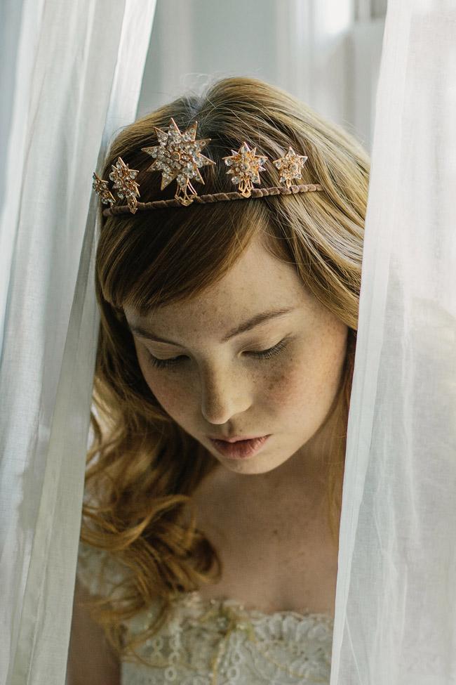 Bridal Star Tiara Wedding Tiara 1920s Starburst Crown