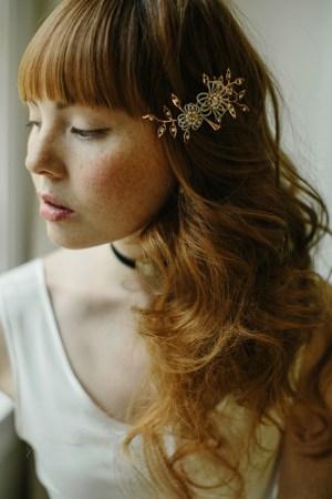 Nosegay bridal hair clip