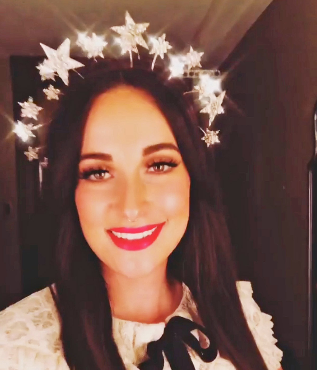 Kacey Muskgraves wear Erica Elizabeth Designs Star crown