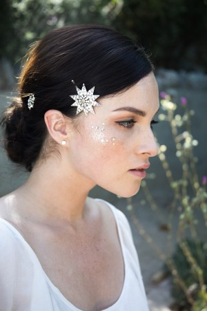 STARRY NIGHT CELESTIAL BRIDAL HAIRPINS NO. 2281
