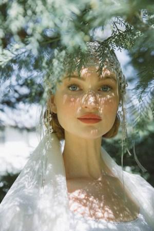 Spellbound silver lace bridal cap