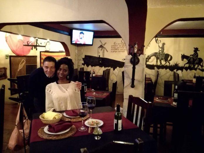 The inside of a restaurant in San Cristobal de las Casas. Fancy restaurant but still low costs.