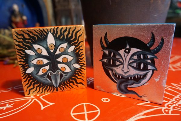 Solar and Lunar Demon Paintings