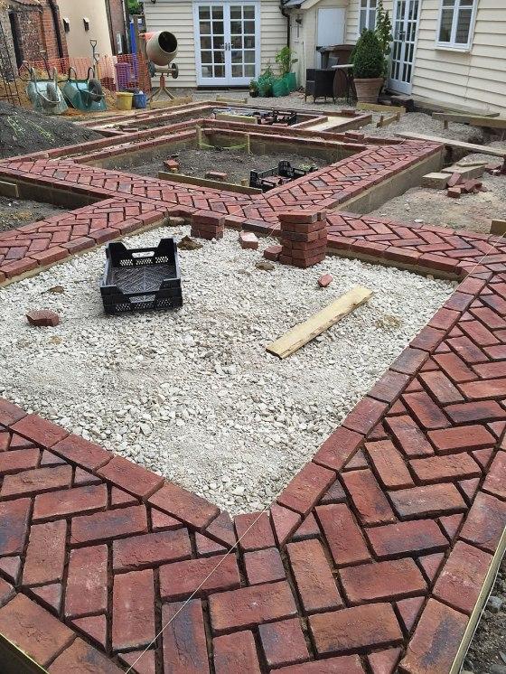 Work in progress on Erica James' new garden