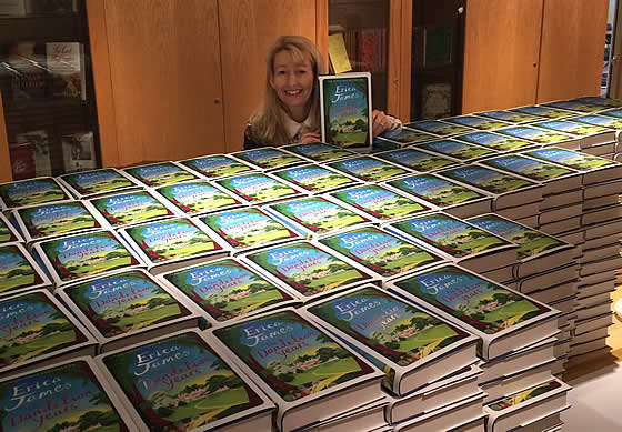 Erica signing  2000 copies of The Dandelion Years
