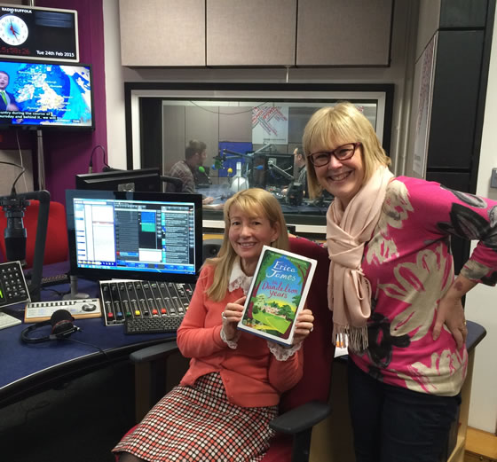 Erica with Lesley Dolphin at BBC Radio Suffolk