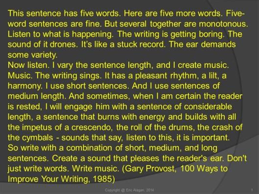 Provost 5-word Sentences