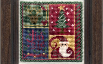 Jingle Squared | Original counted thread designs by Linda Stolz for Erica Michaels Designs | EricaMichaels.com