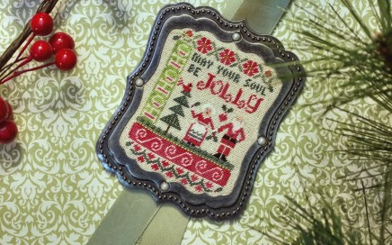 Jolly Soul on silk gauze | Original counted thread designs by Linda Stolz for Erica Michaels Designs | EricaMichaels.com