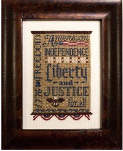Liberty & Justice on silk gauze | Original counted thread designs by Linda Stolz for Erica Michaels Designs | EricaMichaels.com