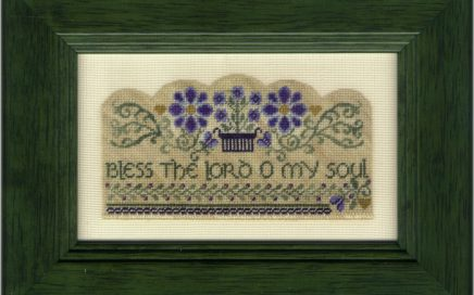 O My Soul | Original counted thread designs by Linda Stolz for Erica Michaels Designs | EricaMichaels.com