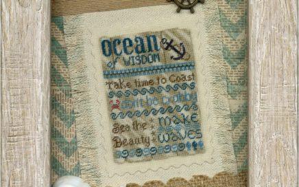 Ocean of Wisdom | Original counted thread designs by Linda Stolz for Erica Michaels Designs | EricaMichaels.com