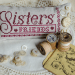 Sisters Together - cushion on linen | Original counted thread designs by Linda Stolz for Erica Michaels Designs | EricaMichaels.com