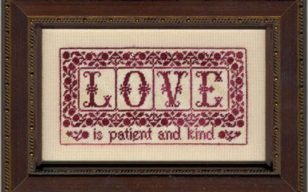 These Three Remain - LOVE | Original counted thread designs by Linda Stolz for Erica Michaels Designs | EricaMichaels.com