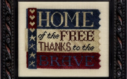 Thanks to the Brave | Original counted thread designs by Linda Stolz for Erica Michaels Designs | EricaMichaels.com
