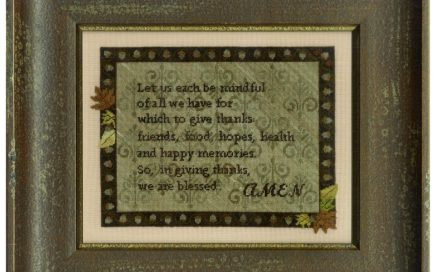 We Are Blessed | Original counted thread designs by Linda Stolz for Erica Michaels Designs | EricaMichaels.com