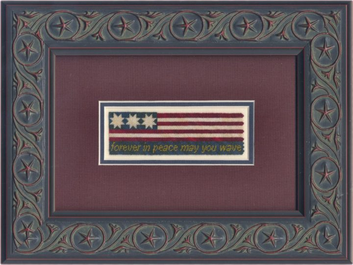 Grand Old Flag on silk gauze